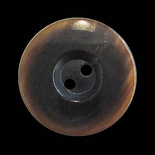 www.knopfparadies.de - 5978pp - Eelegante Büffelhornknöpfe mit zwei Löchern und breitem Rand