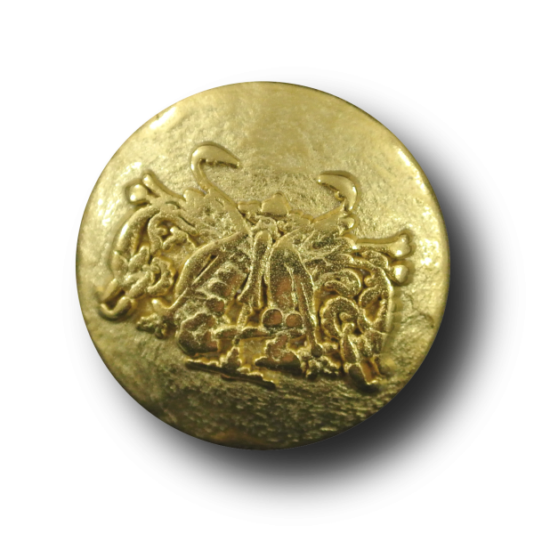 Extravaganter Metall Knopf mit phantasievollem Enblem