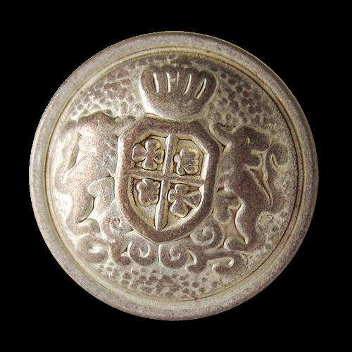www.Knopfparadies.de - 3017ks -  Oppulente Wappenknöpfe aus Metall