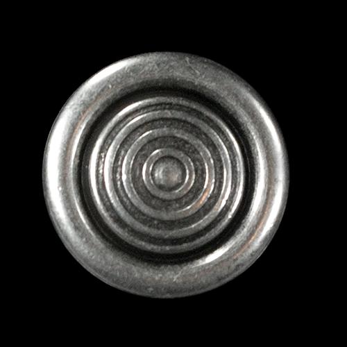 Altsilberfarbener Metallknopf mit Kreismuster