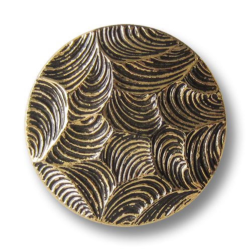 www.Knopfparadies.de - 1465ag - Extravagante goldene Kunststoffknöpfe