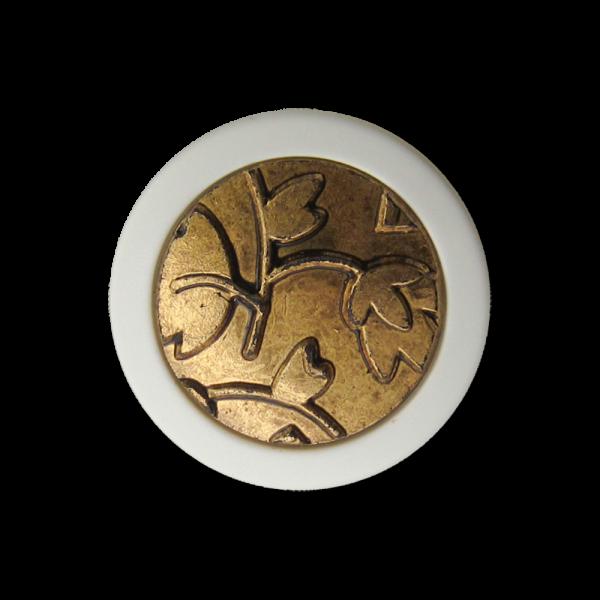 Kunststoff Ösen Knopf mit Blätter Relief Muster