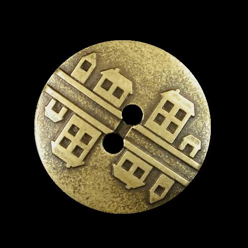 Knöpfe mit kleinen Uferhäusern