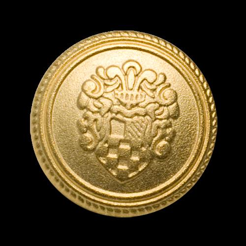 Klassische Blazerknöpfe mit Wappenmotiv in matt gold