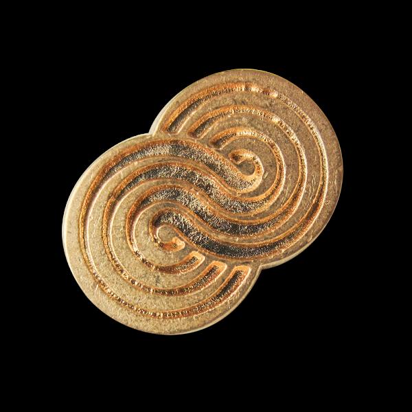 Ausgefallener kleiner matt goldfb. Metall Knopf