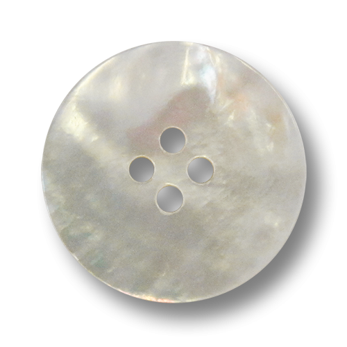 www.Knopfparadies.de - 5400pm - Edle Vierlochknöpfe aus echtem Perlmutt in Naturweiß
