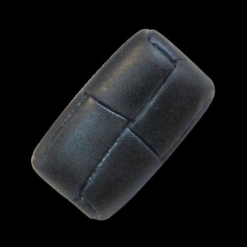 www.knopfparadies.de - 5973bl - Dunkelblaue Kunststoffknöpfe, fast wie echte Lederknöpfe