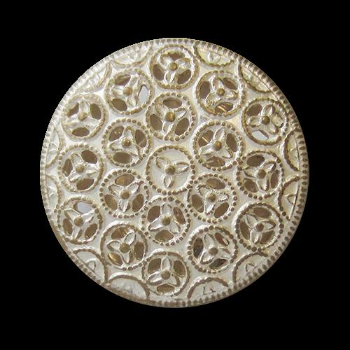 www.knopfparadies.de - 5559ms - Metallblechknöpfe mit filigranem Durchbruchmuster