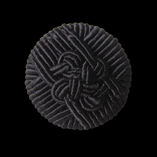 Traumhaft schöner schwarzer Posamenten Knopf mit Öse