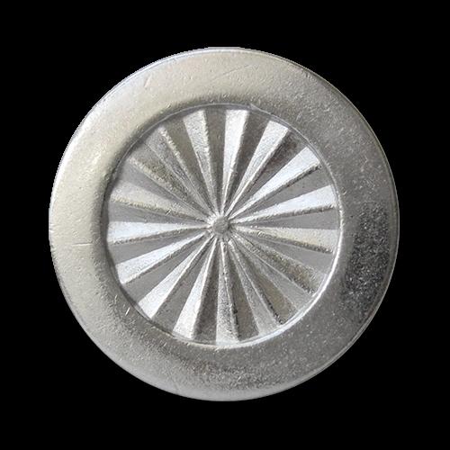 www.Knopfparadies.de - 5945si - Elegante Ösenknöpfe aus Metall in Silber