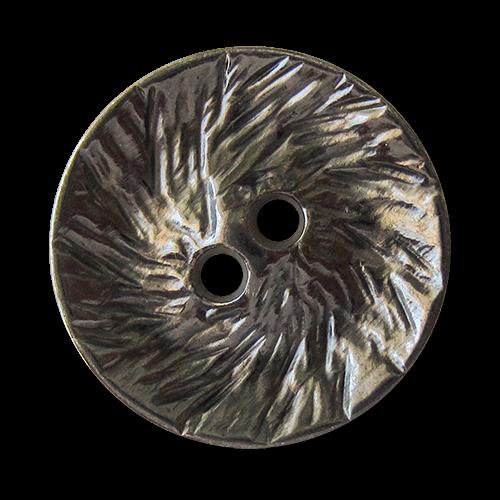 www.Knopfparadies.de - 1625ch - Originelle chromfarbene Zweiloch Metallknöpfe mit strukturierter Oberfläche
