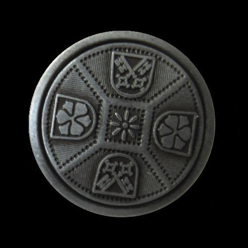 Metall Knöpfe mit Wappen für Kostüme, Blazer, Trachten