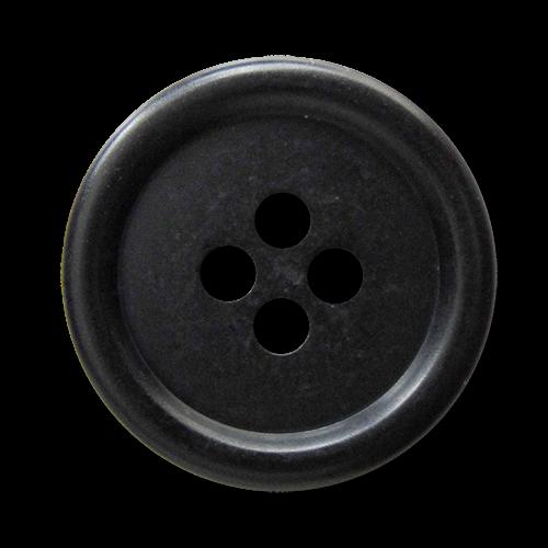 www.knopfparadies.de - 5888sc - Schlichte, günstige Kunststoffknöpfe, matt schwarz