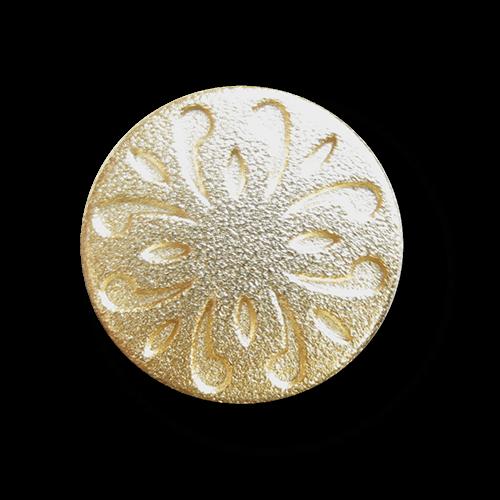 Kleiner goldfarbener Metallknopf