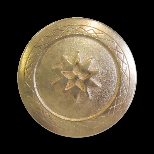 www.knopfparadies.de - 3926rg - Goldfarbene Sternknöpfe aus Metall