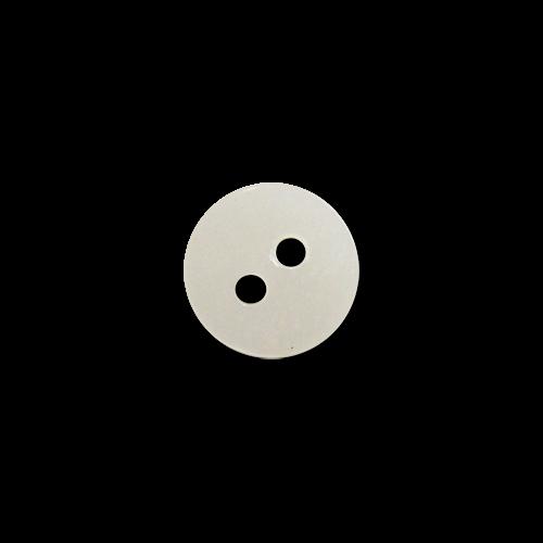 www.Knopfparadies.de - 4015pm - Scheibenförmige kleine weiße Zweilochknöpfe aus echter Perlmutter