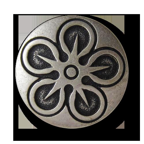 0029zi-15mm 5 wunderschöne zinnfarbene Metallknöpfe mit nostalgischem Muster