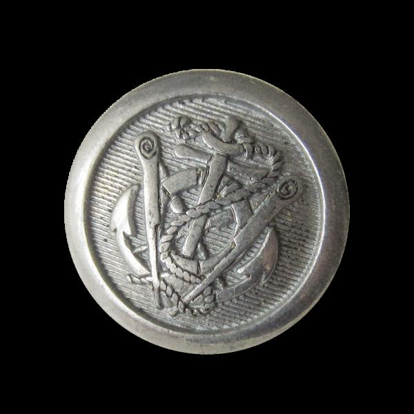 Anker Metall Ösen Knopf in Zinnfarben