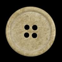 Schlichte Kunststoffknöpfe beige gemasert (12 Stck)