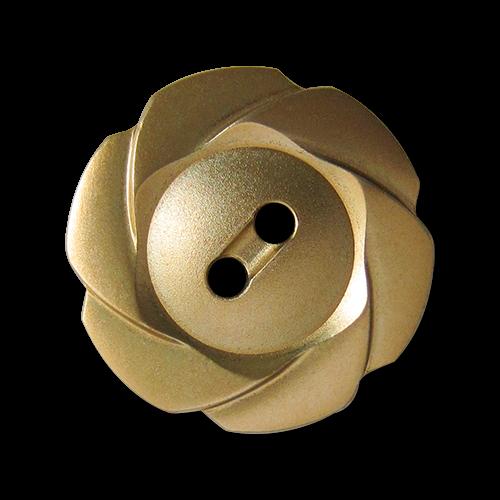 Verspielter matt-goldfarbener Knopf
