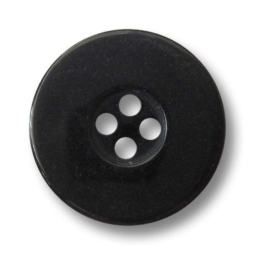 www.knopfparadies.de - 1457sc - Schwarze Vierlochknöpfe aus Kunststoff