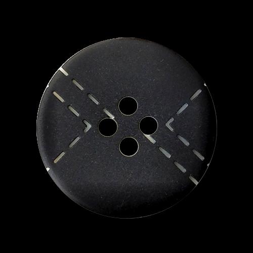 www.knopfparadies.de - 0563sc - Hübsche Kunststoffknöpfe in schwarz-weiß