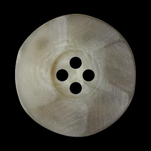 www.Knopfparadies.de - 4121gr - Edle graue Kunststoffknöpfe in Horn Optik mit gewelltem Rand