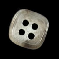 Quadratischer beige melierter Vierloch-Basic Knopf