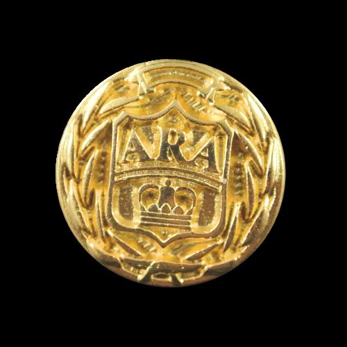 Kleiner goldfb. Wappen Metall Knopf f. Blusen / Hemden