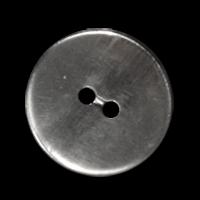 Stahlfarbener schlichter ZweilochKnopf