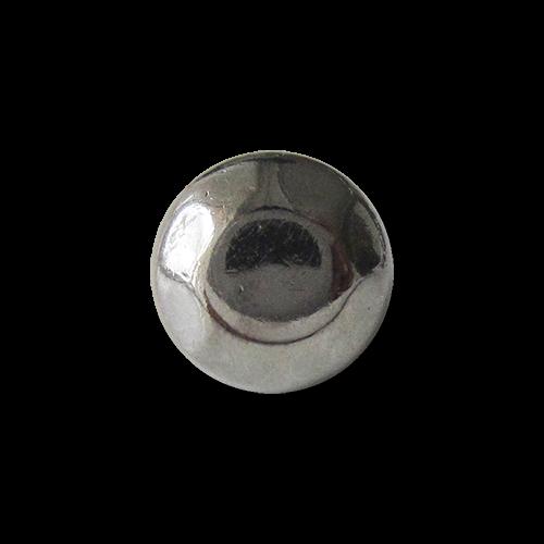 www.Knopfparadies.de - 1621ch - Sehr kleine chromfarbene Metallknöpfe wie Nieten oder Schraubenköpfe