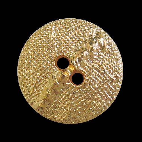 www.knopfparadies.de - 3938go - Glänzend goldfarbene Kunststoffknöpfe