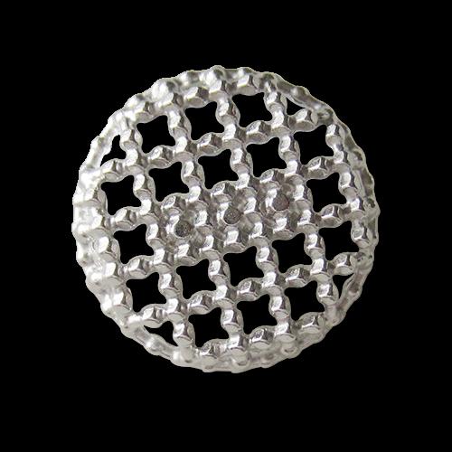 Silberfarbene Metall Ösen Knöpfe mit Gitter Durchbruch