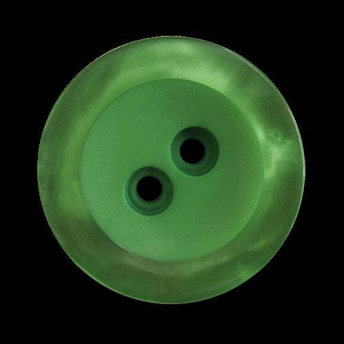www.knopfparadies.de - 5819gr - Hübsche Kunststoffknöpfe in grün mit schimmernden Rand