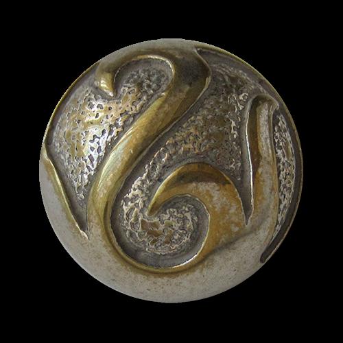 Edle halbkugelförmige Ösen Metallknöpfe in Bicolor Optik