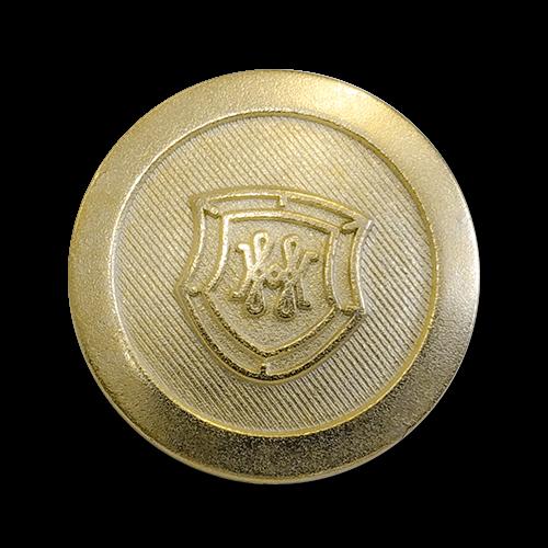 www.knopfparadies.de - 6132go - Goldfarbene Blazerknöpfe aus Metal B-Ware