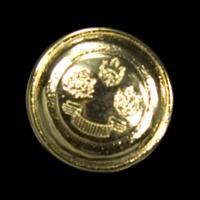 Goldfarbener Wappenknopf