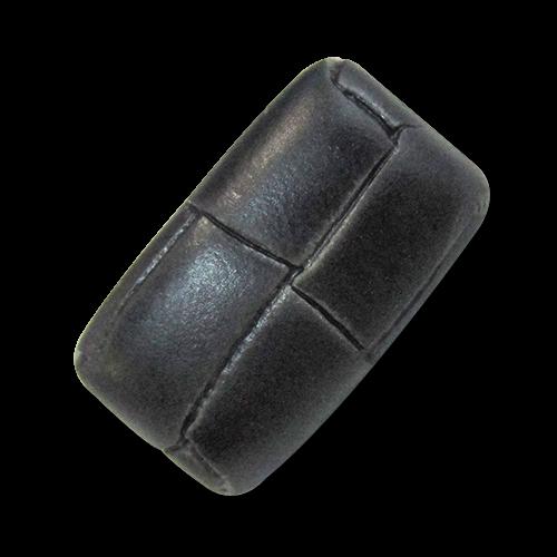 www.knopfparadies.de - 5973sc - schwarze Kunststoffknöpfe, fast wie echte Lederknöpfe
