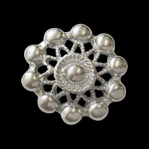 www.Knopfparadies.de - 0195si - Tolle Metallknöpfe für Kostüme oder Trachten in Silber