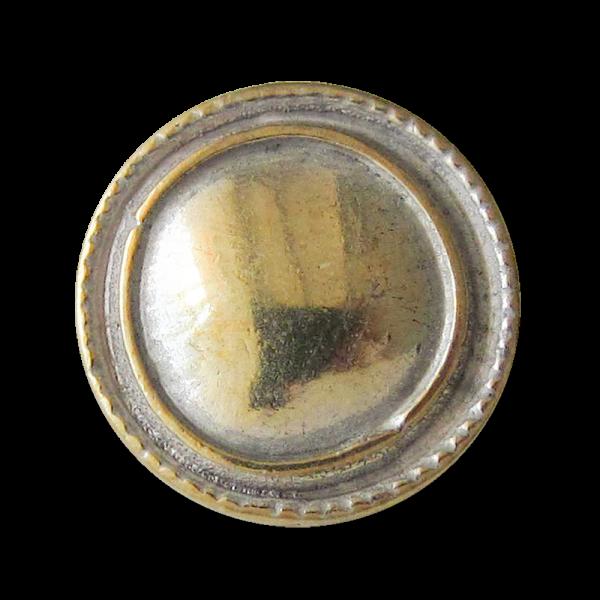 Bicolor Metall Knopf mit Öse in unrunder Form