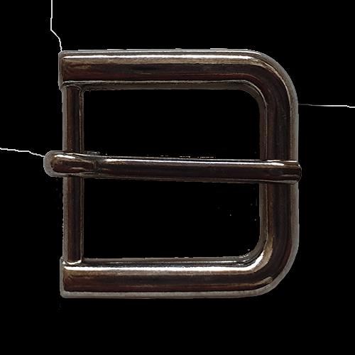 Klassische dunkel-chromfarbene Gürtelschnallen aus Metall für 20mm-Gurte
