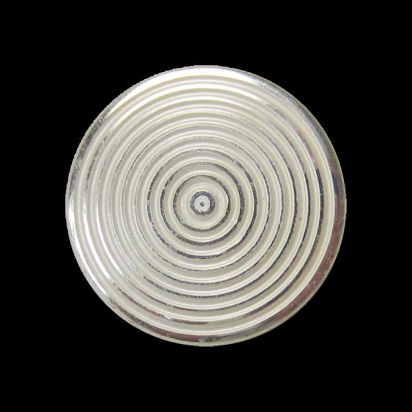 Toller Ösen Knopf aus Metallblech mit Kreis Muster