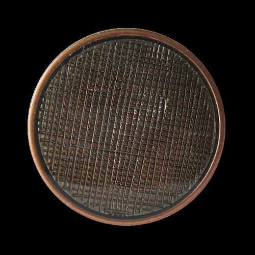 www.Knopfparadies.de - 1501ku - Kupferfarbene Metallknöpfe mit Netz Struktur