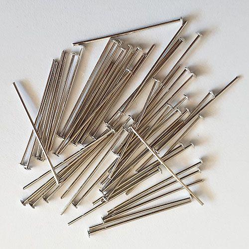 www.knopfparadies.de - 2049si - Kettelstifte zur Perlenmontage