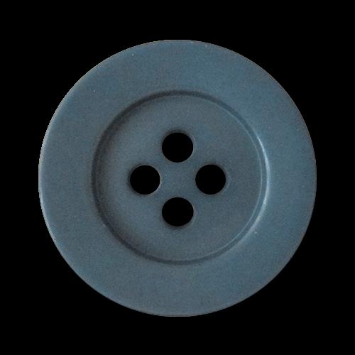 www.Knopfparadies.de - 5906db - Elegante große Vierloch Mantelknöpfe aus Kunststoff in Blau