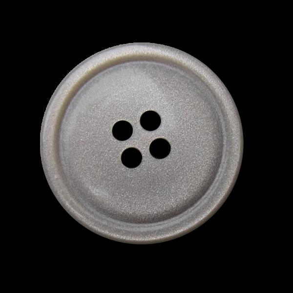 Edler silber grauer Blusen Knopf mit dezentem Glitzer