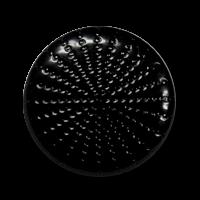 Schwarzer Ösenknopf mit Punktmuster