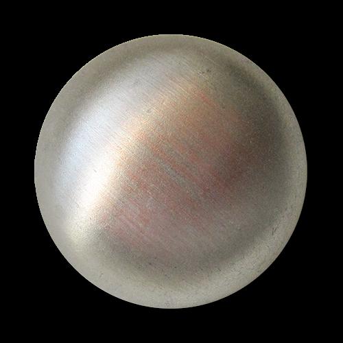 www.knopfparadies.de - 5650sk - Silber- und kupferfarben gebürstete Metallknöpfe