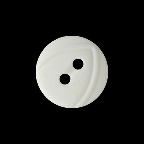 www.Knopfparadies.de - 1648we - Weiße kleine Zweiloch Kunststoffknöpfe für Blusen, etc.