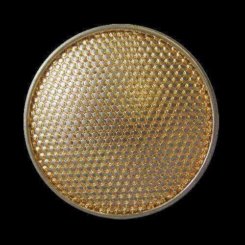 www.knopfparadies.de - 5753go - Günstige Metallknöpfe in gold - BWARE